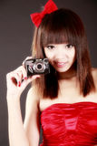 Camera girl  Stock Images