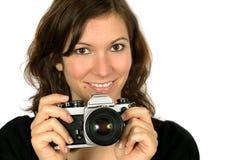 Camera girl Royalty Free Stock Photos