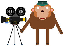 Camera gorilla Royalty Free Stock Photo