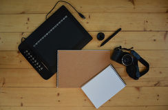 Camera and Graphic Tablet Stock Photos