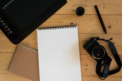 Camera and Graphic Tablet Royalty Free Stock Photo
