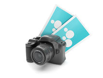 Camera and a group snapshot Stock Photography