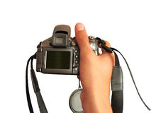 Camera in the hand Royalty Free Stock Image