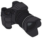 Camera. Hand drawing of a photographic camera Royalty Free Stock Photography