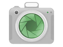 Camera icon. Digital camera icon, ideal for web design and various devices. Isolated on white background Stock Photo
