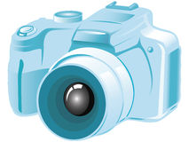 Camera icon. Camera detailed icon blue illustration