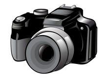 Camera icon. Camera detailed icon blue illustration Stock Photography