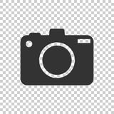 Camera icon on background. Flat vector illustration. Simple pictogram royalty free illustration