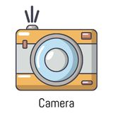 Camera icon, cartoon style. Camera icon. Cartoon illustration of camera vector icon for web Royalty Free Stock Image