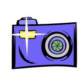 Camera icon cartoon. Camera icon in cartoon style isolated vector illustration Royalty Free Stock Images