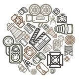 Camera Icon Color Circle Stock Photography