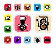 Camera icon. Cute camera icon, illustration Stock Photography