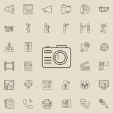 Camera icon. Detailed set of Media icons. Premium quality graphic design sign. One of the collection icons for websites, web desig. N, mobile app on colored vector illustration