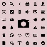 Camera icon. Detailed set of minimalistic icons. Premium graphic design. One of the collection icons for websites, web design, mob. Ile app on colored background royalty free illustration