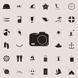 Camera icon. Detailed set of summer pleasure icons. Premium quality graphic design sign. One of the collection icons for websites,. Web design, mobile app on royalty free illustration