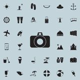 Camera icon. Detailed set of summer pleasure icons. Premium quality graphic design sign. One of the collection icons for websites,. Web design, mobile app on stock illustration
