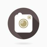 Camera  Icon With Flat Design Stock Photos