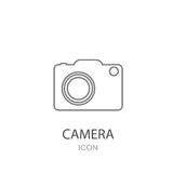 Camera icon. Flat style object. Vector illustration Royalty Free Stock Images