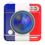 Camera icon French Stock Image