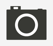 Camera icon illustrated Royalty Free Stock Images