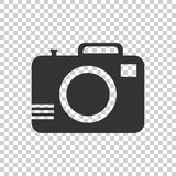 Camera icon on isolated background. Flat vector illustration. Royalty Free Stock Photography