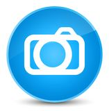 Camera icon elegant cyan blue round button Royalty Free Stock Photography