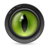 Camera icon lens Stock Images