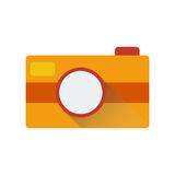 Camera icon with long shadow. Vector illustration Stock Photography