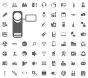 Camera icon. Media, Music and Communication vector illustration icon set. Set of universal icons. Set of 64 icons.  Royalty Free Illustration
