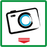 Camera Icon. Photo camera sign Stock Photography