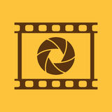 The camera icon. Photo and diaphragm, photographer, film symbol. Flat Royalty Free Stock Images