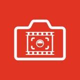 The camera icon. Photo and photographer, film symbol. Flat Stock Photo