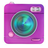 Camera icon pink. 3D rendering of a photo camera icon Stock Photo