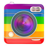 Camera icon rainbow Royalty Free Stock Photography
