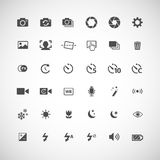 Camera icon set, vector eps10 Royalty Free Stock Photos