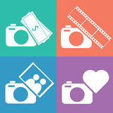 Camera icon set Royalty Free Stock Photography