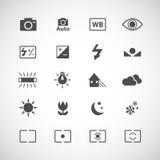 Camera icon set, vector eps10 Stock Photography