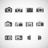 Camera icon set, vector eps10 Royalty Free Stock Photography