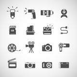 Camera icon set, vector eps10 Stock Photography