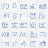 Camera Icon set. 25 Vector Icons Pack vector illustration