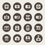 Camera icon set. Vector Illustration Stock Photography