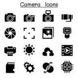 Camera icon set vector illustration