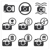 Camera icon set Royalty Free Stock Image