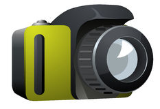 Camera Icon Side View on White Background Stock Photography
