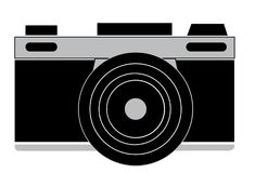 Camera icon silhouette. With white background Royalty Free Stock Images