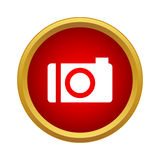 Camera icon in simple style. On a white background Stock Photos
