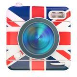 Camera icon Uk Royalty Free Stock Photography