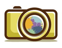 Camera icon. Vector illustrations of the camera icon Stock Photos