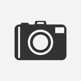 Camera icon on white background. Flat vector illustration. Stock Photo