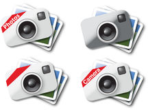 Camera icons. Modern icons for the web and for print Royalty Free Stock Photography